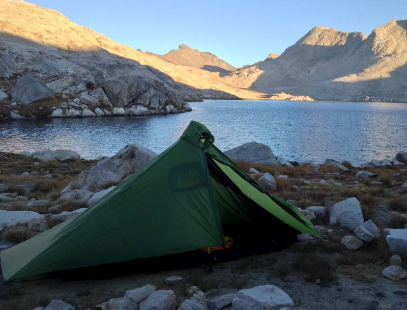 Gatewood Cape pitched at Wanda Lake (11,400     feet),California