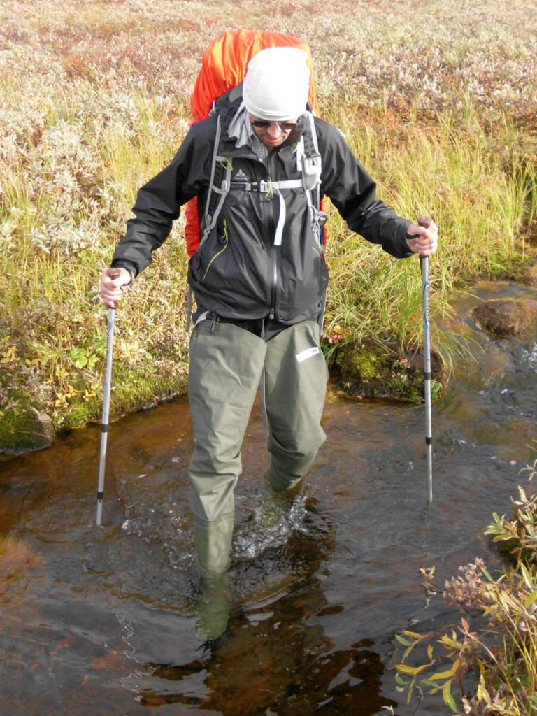 Fording with trekking poles reduces the risk.